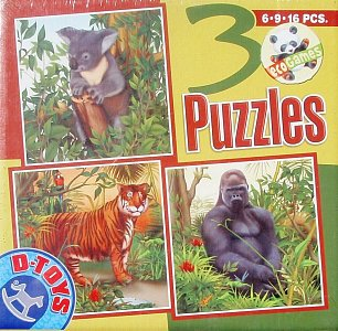 Jungle Animals (6, 9, 13 Pieces) - 1
