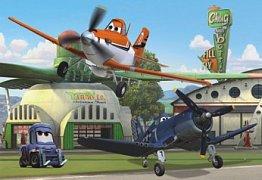 Planes at hangar