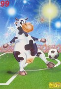 The Cow is playing football
