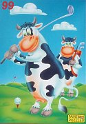 The Cow is playing Golf