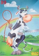 The Cow is playing Tenis