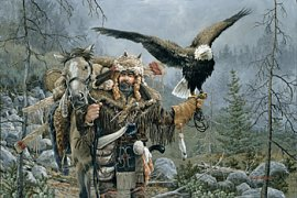 Trapper mit Adler