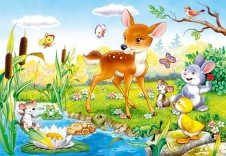 Bambi with animals