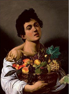 Boy with a Basket of Fruit - 1
