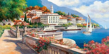 Idyllic Landscape of the Lake Como