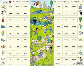 Learning English Puzzle - Irregular Verbs  - 1