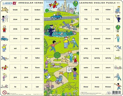 Learning English Puzzle - Irregular Verbs