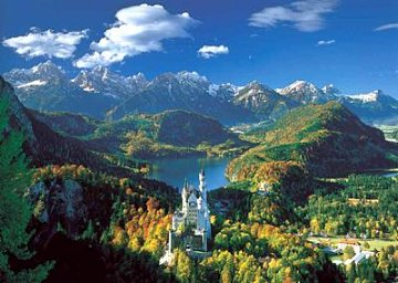 Neuschwanstein Castle and his surroundings - 1