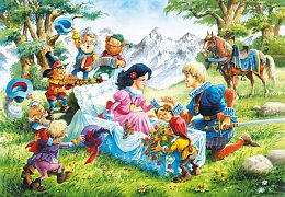 Snow White with Prince and Dwarves