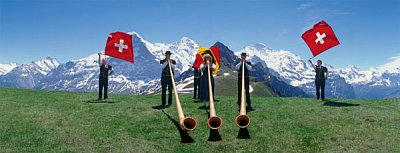 Swiss Alphorn Players