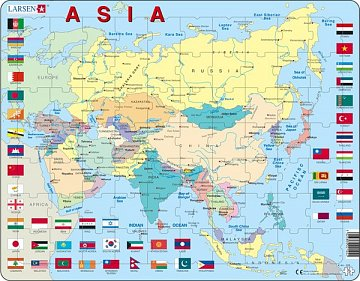 The map of asia flags puzzle trade the map of asia flags 1 gumiabroncs Image collections