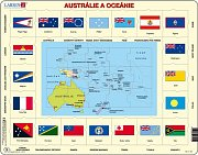 The Map of Austraila and Oceania + Flags