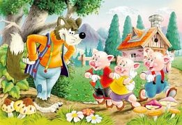 Three Little Pigs with the Wolf