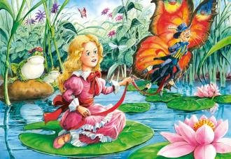Thumbelina with a Butterfly