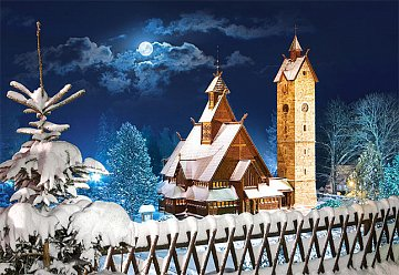 Vang stave church in Winter, Poland - 1
