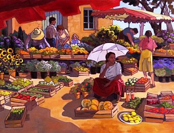 Women at the Market Place - 1