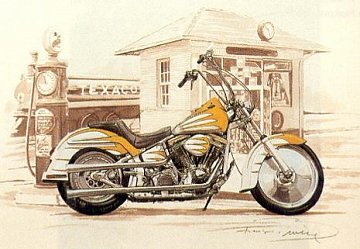 Yellow Harley - 1